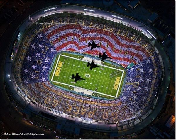 Patriotic overhead image