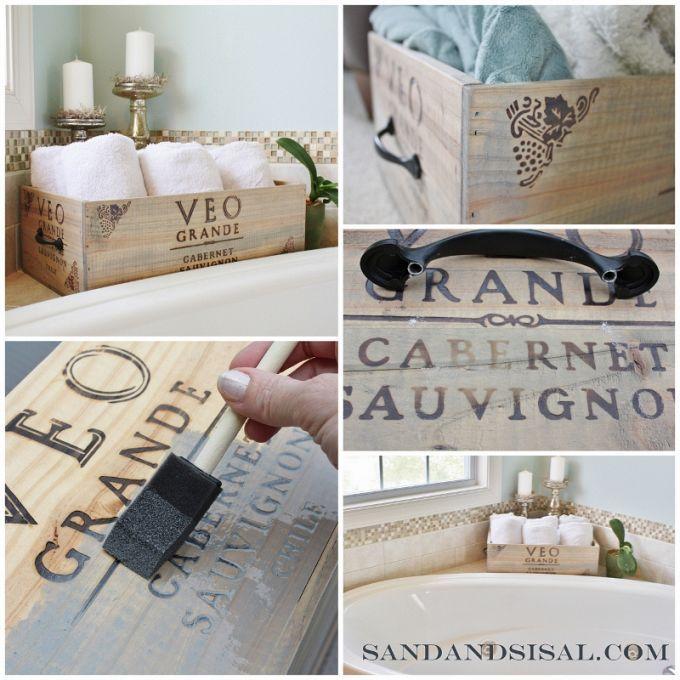 Upcycle una caja de vino en una hermosa caja de almacenamiento mediante la adición de hardware ... :: Hometalk