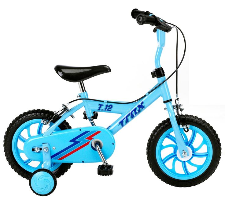 The Trax T.12 Boys Bike is a perfect first bike for kids to charge around on.