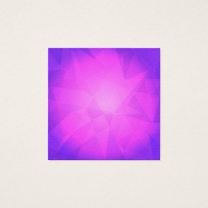 Abstract glow light purple triangle background square business card - light gifts template style unique special diy