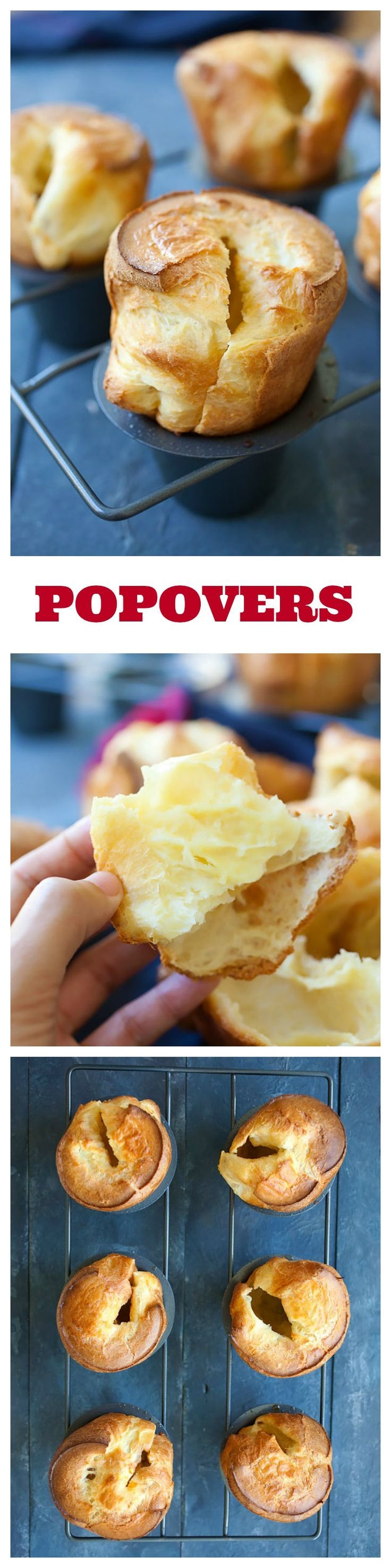 Popovers – American version of Yorkshire pudding. Popovers are tender, airy, hollow rolls surrounded by burnished crust, so yummy and addictive   rasamalaysia.com
