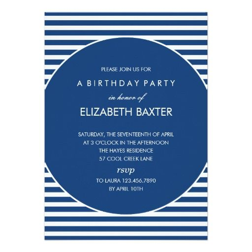 196 best holiday baby shower invitations images on pinterest baby fabulous stripes general party invitation blue stopboris Images