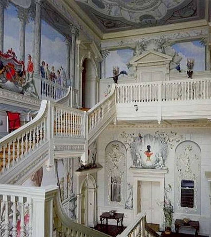 Ragley Hall Murals By Graham Rust In The South Staircase