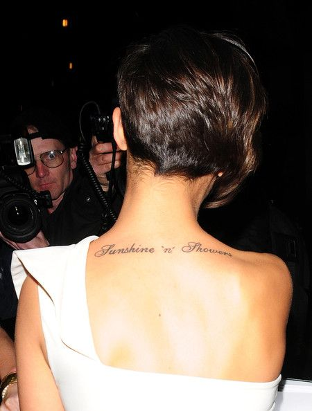 the back of Frankie Sandford's hair.   finally