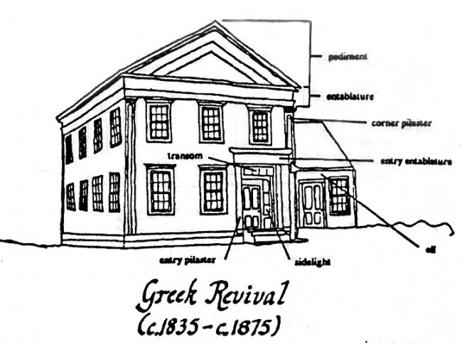 *This architectural style is referred to as neoclassical, and includes Federal and Greek Revival styles.