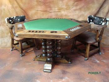 Poker Game Table, El Paso Saddleblanket co