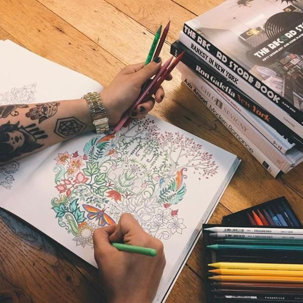 Enchanted Forest An Inky Quest Coloring Book By Johanna Basford BasfordColoring BooksUrban OutfittersWednesdayForests