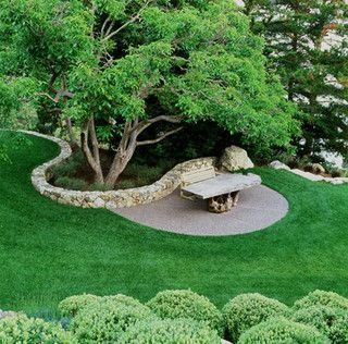 Beautiful organic flow of the rock wall
