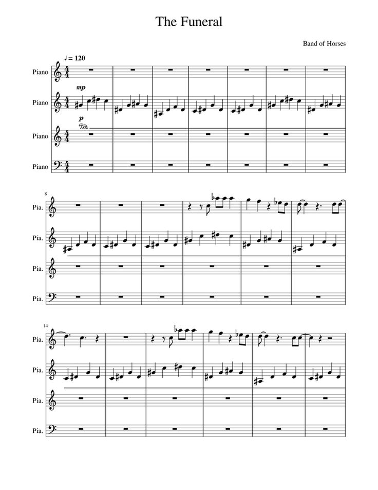 Print And Download In Pdf Or Midi The Funeral Band Of Horses