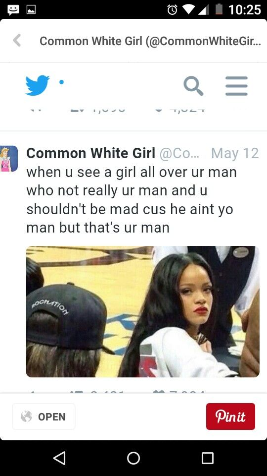 Tweets common white girl
