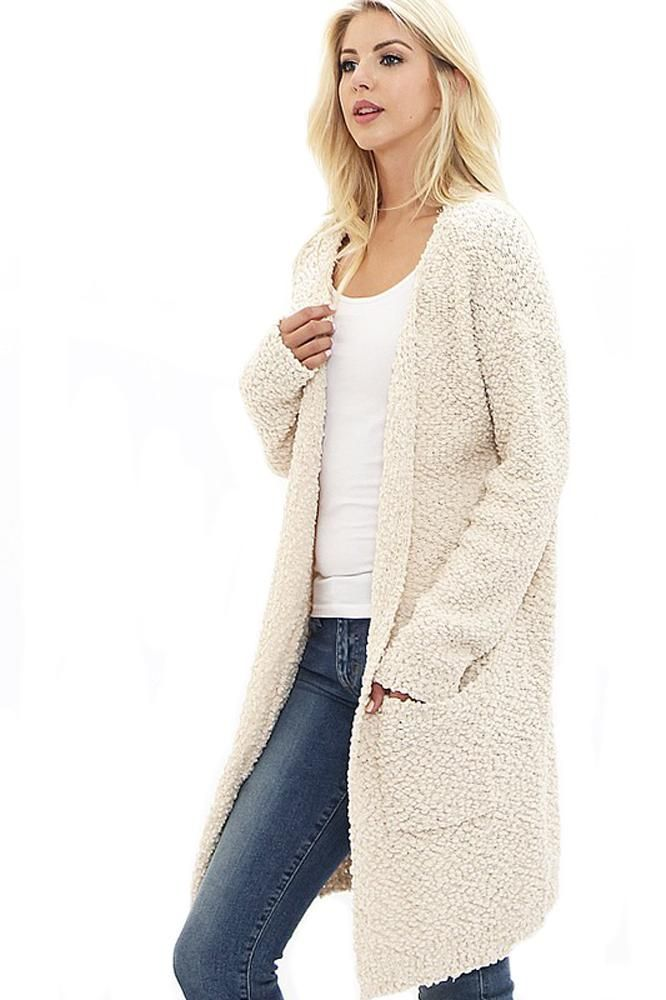 Popcorn Knee Length Cardigan Sweater In 2018 Products Pinterest