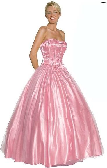pink princess prom dresses
