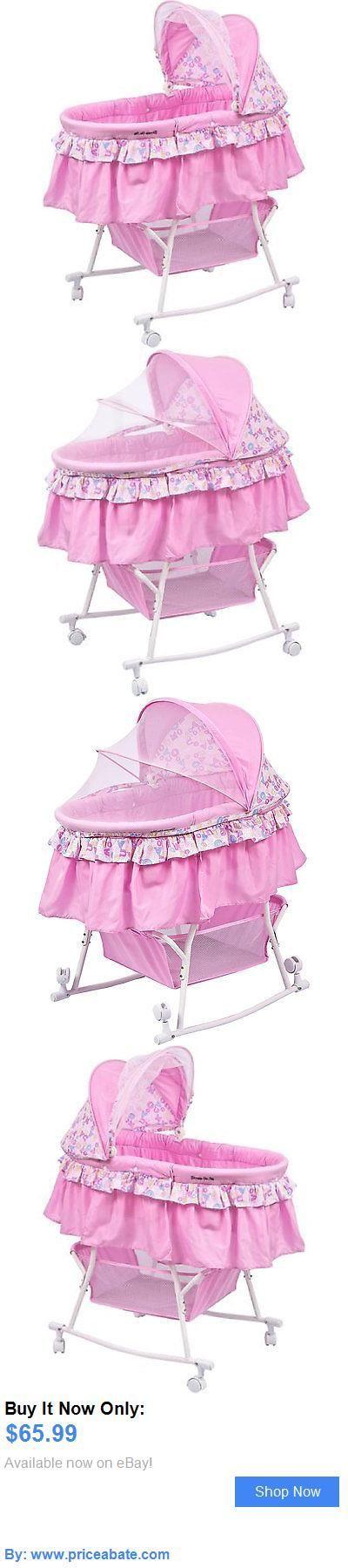 Baby Nursery: Portable Baby Bassinet Cradle Infant Rocking Sleeper Pink Nursery Crib Girls BUY IT NOW ONLY: $65.99 #priceabateBabyNursery OR #priceabate