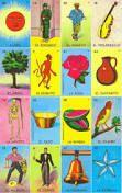"""El juego de la lotería, ampliamente difundido en México, es un juego de azar que consta de un bonche de 54 cartas y un número indefinido de tarjetas llamadas """"tablas"""" con 16 de dichas cartas escogidas aleatoriamente. Cada vez que se extraiga una carta del bonche, ésta se anuncia y los participantes deben marcar esa carta en sus tablas si la tienen."""