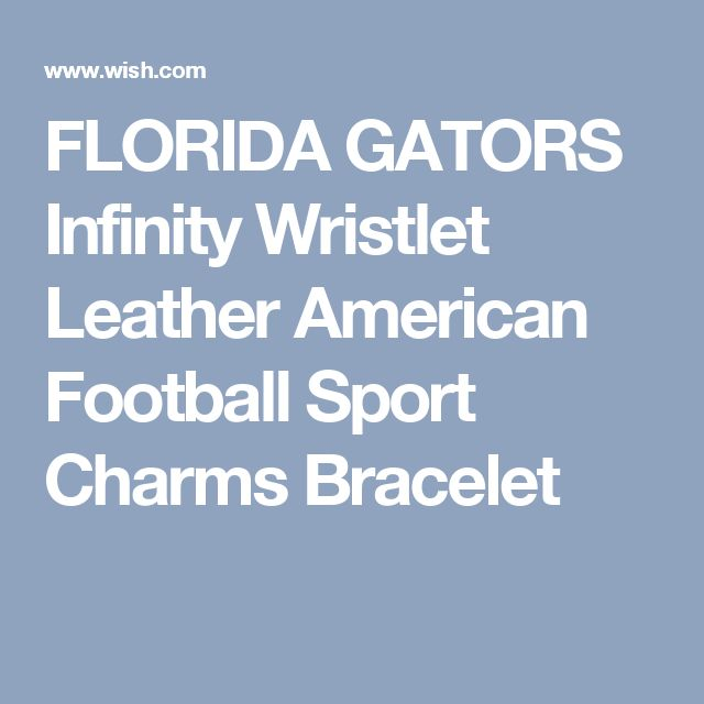 FLORIDA GATORS Infinity Wristlet Leather American Football Sport Charms Bracelet