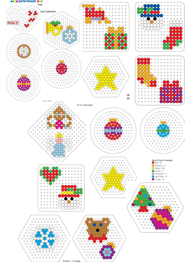 Christmas Advent calender patterns perler beads