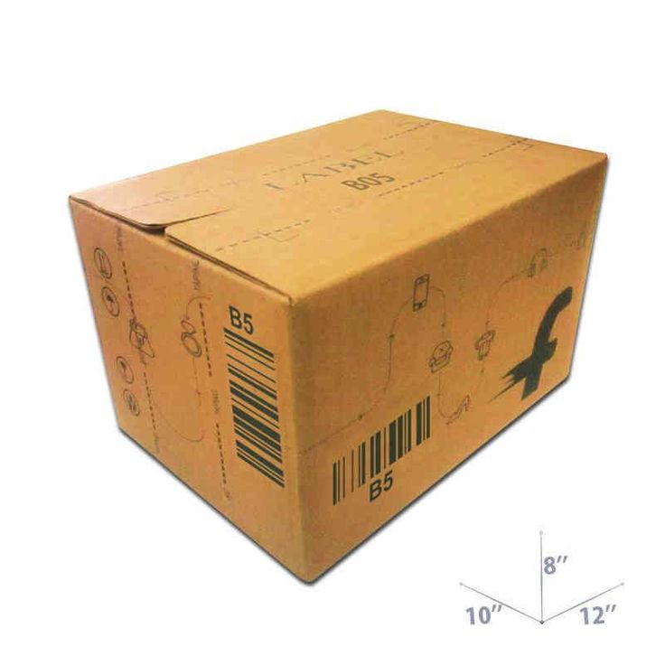 12 x 10 x 8 Flipkart Branded Corrugated Boxes for Authorized Sellers. Lowest Price Guarantee!