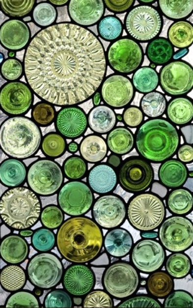 green ,green glass, recycled glass bottle