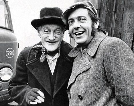 With Wilfrid Brambell in Steptoe And Son