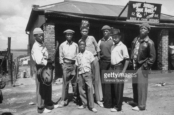 News Photo : Band leader Lemme Mabasob and his kwela band.