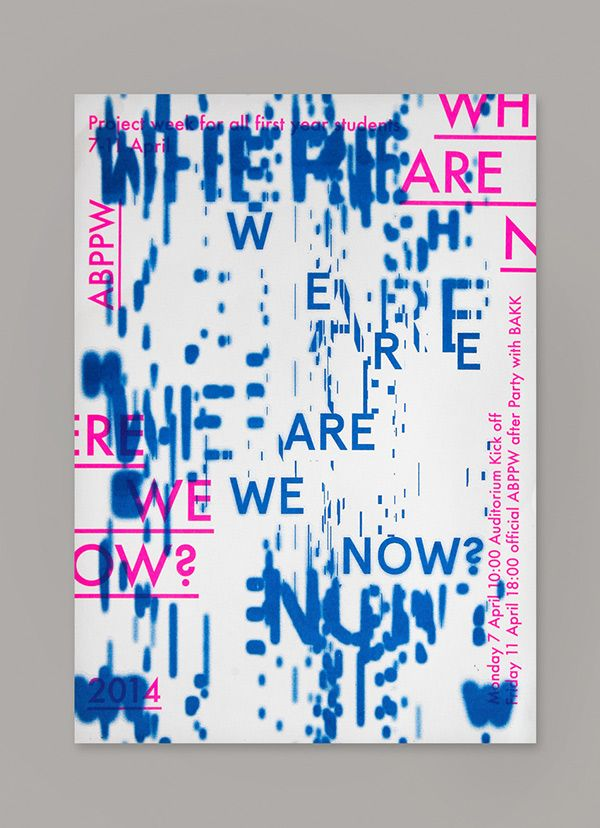 Where are we now by Mary Ponomareva #identity #typography #poster