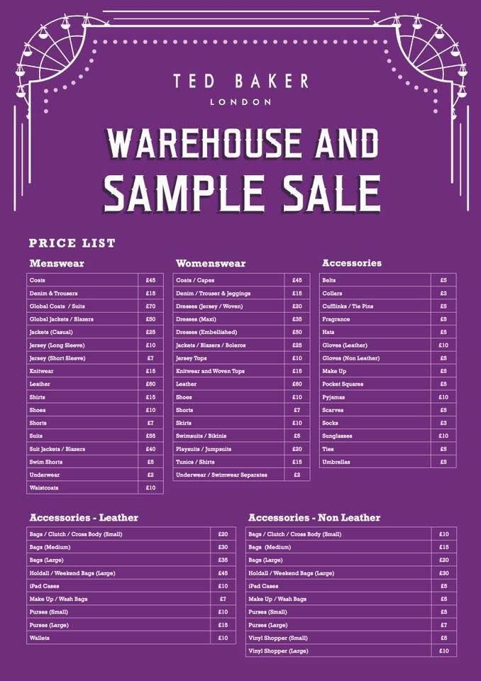 85bd68d90c92 Ted Baker Sample Sale from  tedbaker!  london  samplesale  tedbaker ...