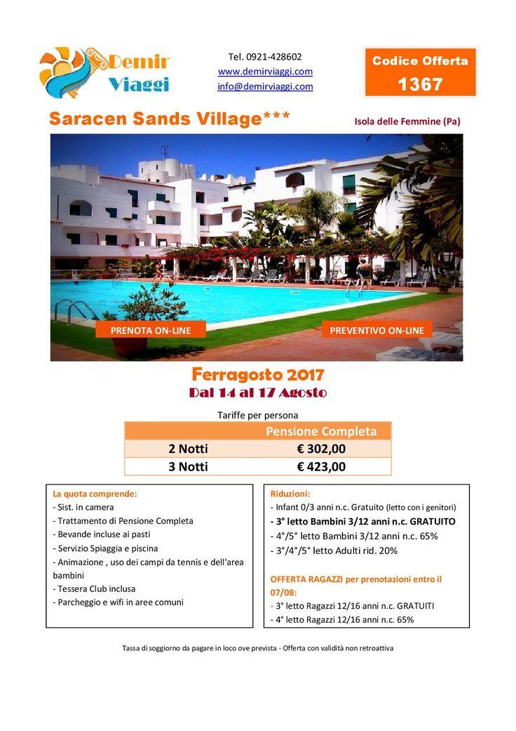 Saracen Sands Village - Isola delle Femmine (Pa) #Ferragosto 2017 Per info e preventivi tel 0921428602 Email: info@demirviaggi.com Web: www.demirviaggi.com #Sicilia #Viaggi #LastMinute #Offerte