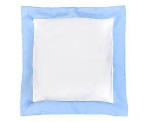 Cuscino arredo in puro lino Alain azzurro - 40x40 cm