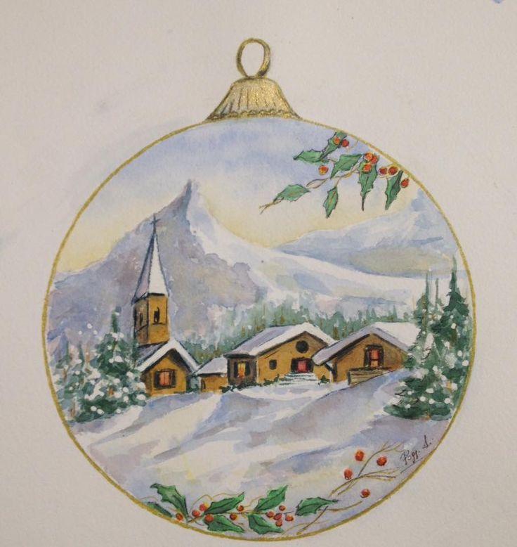 illustrazione natalizia. Acquarello
