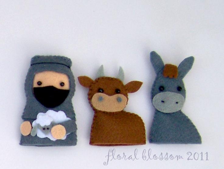 PDF Pattern: Nativity Finger Puppets. $10.00, via Etsy.