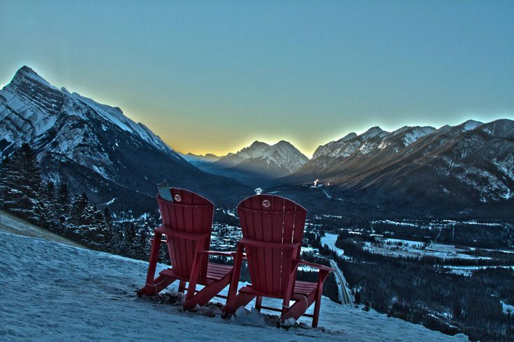 Have you found all of the red chairs in Banff?  #banff #red #chair #redchair #explore # adventure #mountains