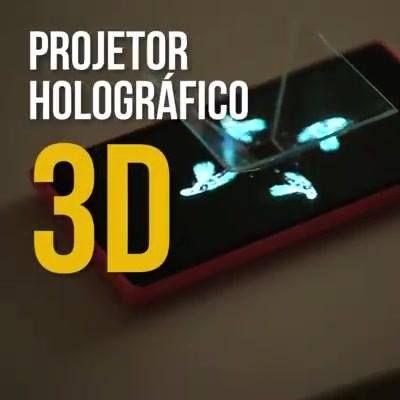 Como fazer em casa Projetor holográfico 3d ...interessante. ....