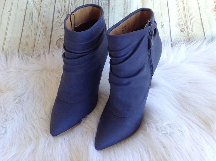 Shoe Dazzle Madison AndI Blue Platform High Heel Ankle Boots 7 Excellent #Shoedazzle #AnkleBoots