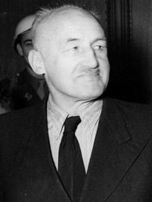 """Julius Streicher (12 February 1885 – 16 October 1946) was a prominent Nazi prior to World War II. He was the founder and publisher of Der Stürmer newspaper, which became a central element of the Nazi propaganda machine. His publishing firm also released three anti-Semitic books for children, including the 1938 Der Giftpilz (""""The Toadstool"""" or """"The Poison-Mushroom""""), one of the most widespread pieces of propaganda, which purported to warn about insidious dangers Jews posed."""