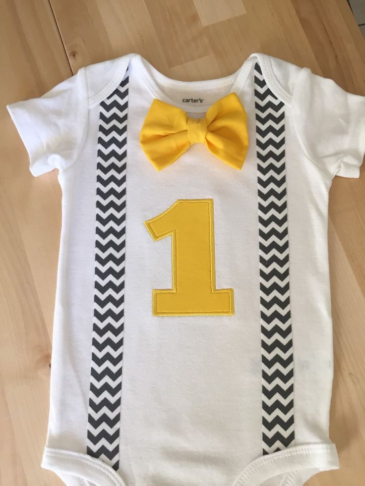 Grey and yellow chevron outfit cake smash first birthday - Gray and yellow chevron