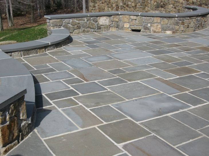 Fascinating Blue Stone Patio Wet Lay Flagstone Thickness Design - 17 Best Ideas About Bluestone Patio On Pinterest Stone Patio