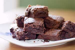 Stevia Recipes - Cooking With Stevia: Low Glycemic Sugar Free Chocolate Applesauce Brownies Recipe Made with Stevia Sweetener