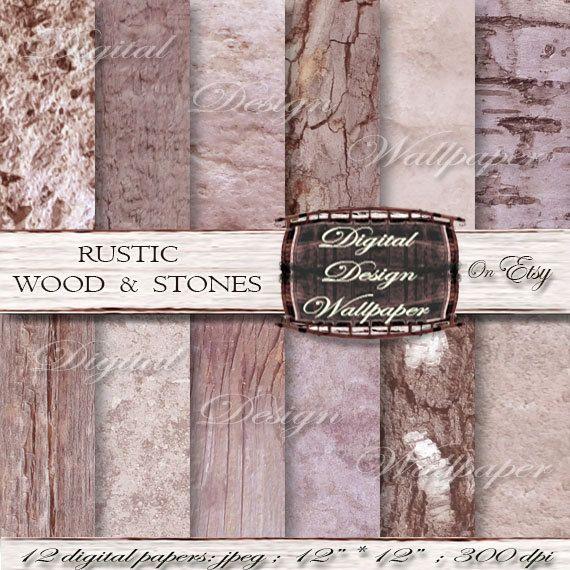Wood Digital PaperRustic wood digital by DigitalDesignPaper