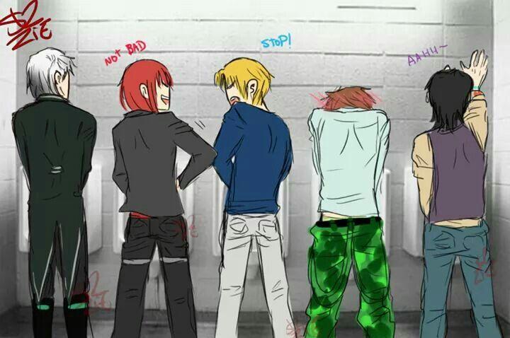 Lysandre : ?/ Castiel : não é ruim / Nathaniel : pare ! / Kentin : (—////—)/ Armin : Aahh (so faltou o Alexy )