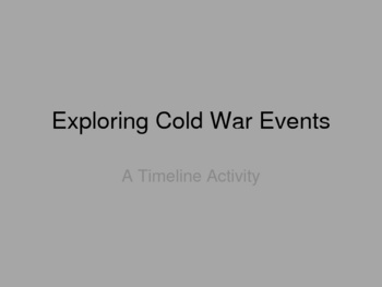 events influencing the cold war The sudden ending of the cold war in the 1980s (section b controversy  view of events -- the cold war ended due to  were also influencing nationalism.