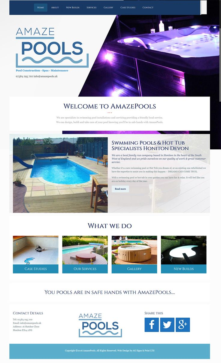 Swimming pools and hot tub installers Devon