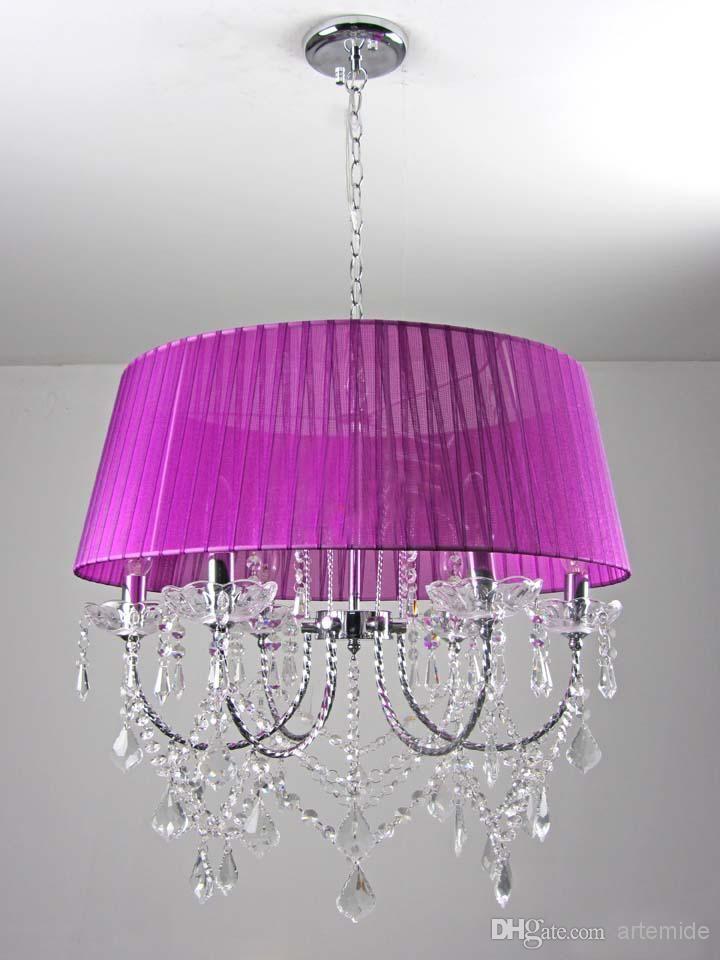 Kristallleuchter Aubergine K9 Kristall Pendelleuchten Wohnzimmer Esszimmer Hängeleuchten K9 Kristall Von