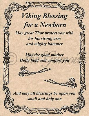Viking Blessing For A Newborn Book Of Shadows Page Bos Pages