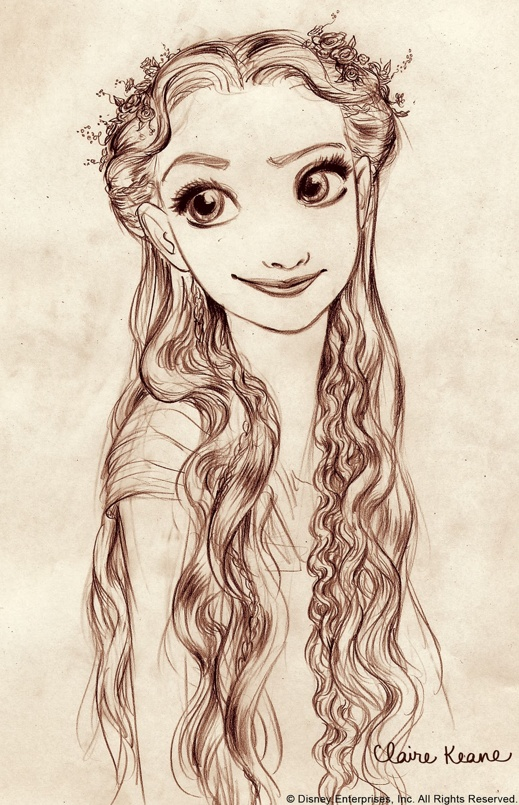 Tangled - Sketch by Claire Keane