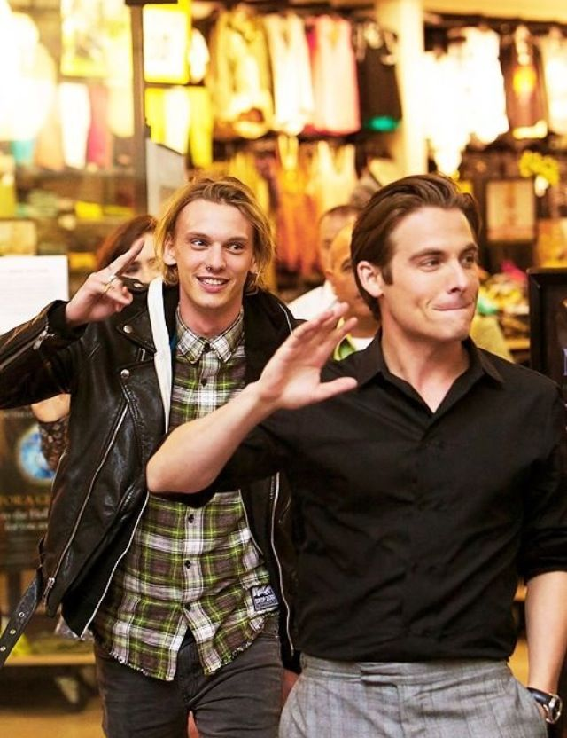 Jamie Campbell Bower and Kevin Zegers