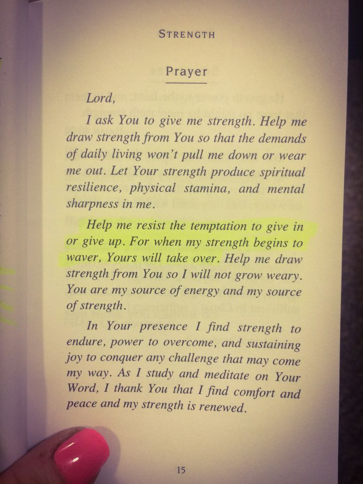 A prayer for #strength