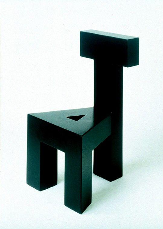 Armando Testa, Sedia AT, 1990, Legno Dipinto, Cm 93 X 45 X