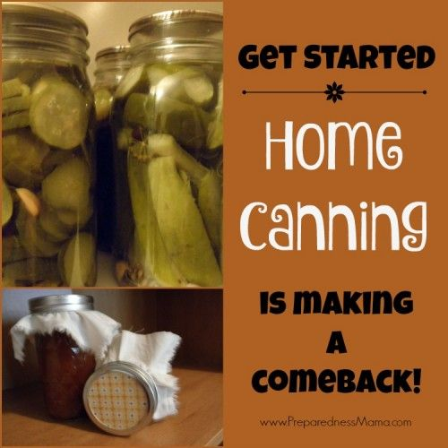 Get Started! Home canning is making a comeback | PreparednessMama