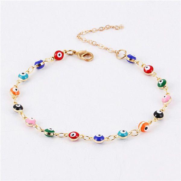 Bracelet - Colorful Turkish Eyes Bracelt For Women