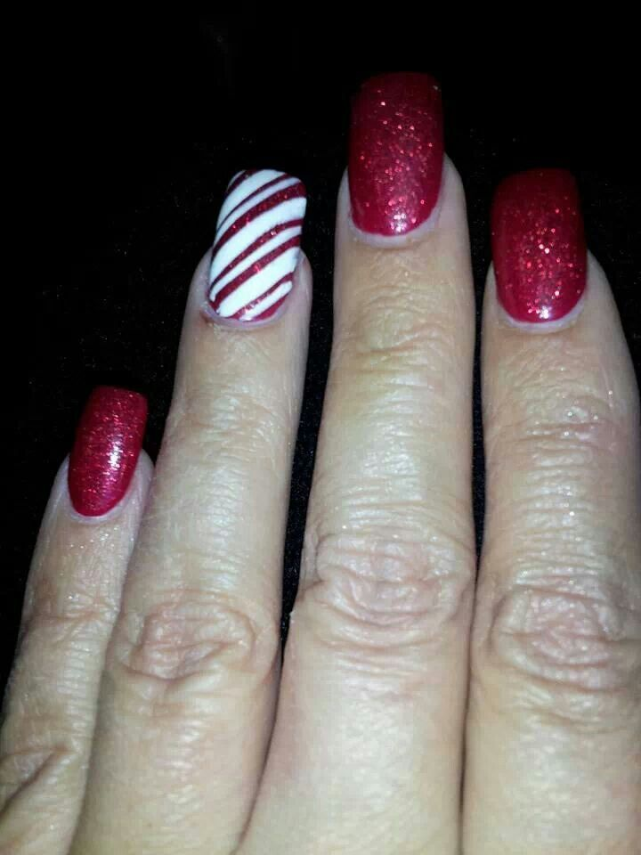 Christmas candy cane sparkle